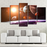 Space & Planets 5 Piece Canvas