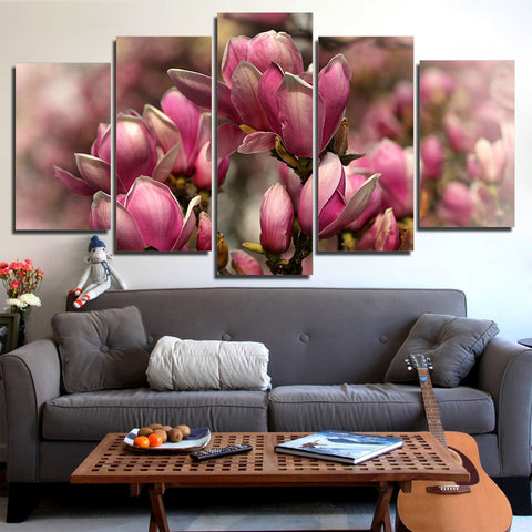 Apricot - Pink Rose 5 Piece Canvas
