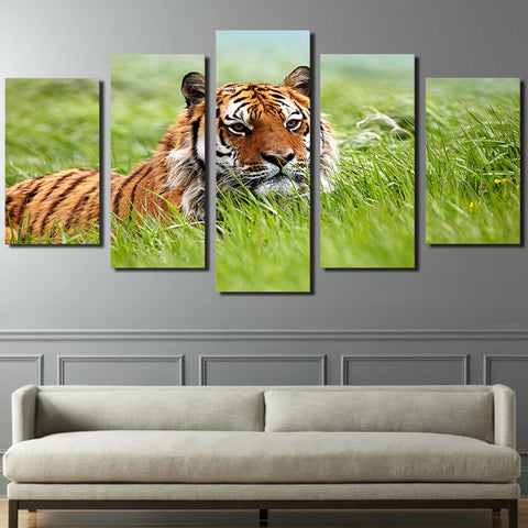 Siberian Tiger 5 Piece Canvas