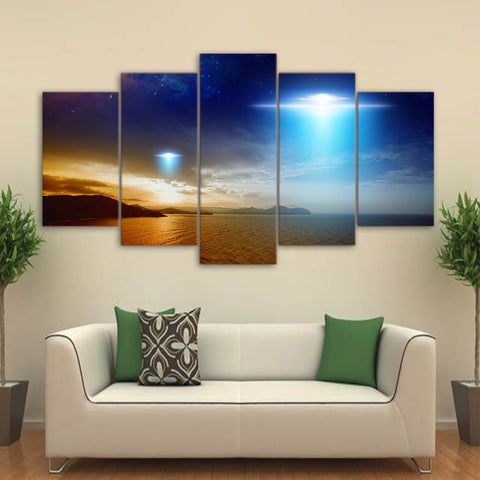 UFO 5 Piece Canvas