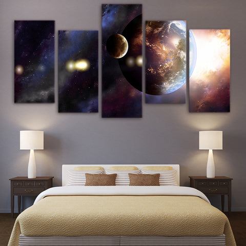 Planets 5 Piece Canvas