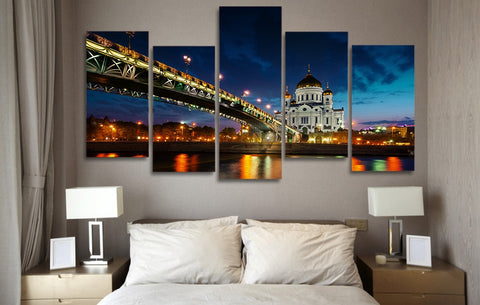 Bridge Castle 5 Piece Canvas