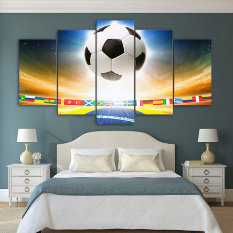 International Football Match 5 Piece Canvas