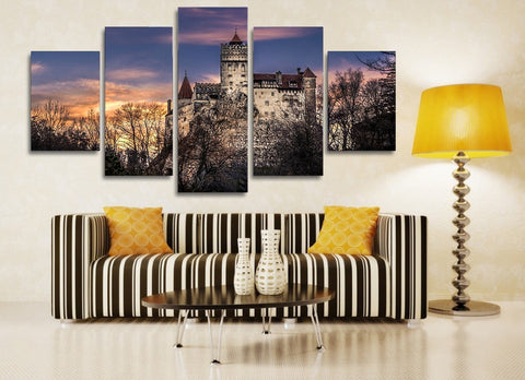 Bran Castle in Romania 5 Piece Canvas