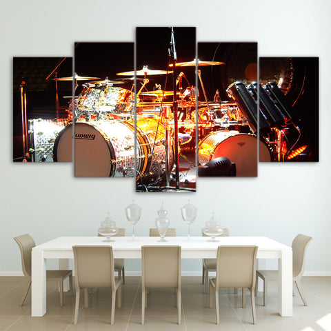 Drum Kit with Lights 5 Piece Canvas