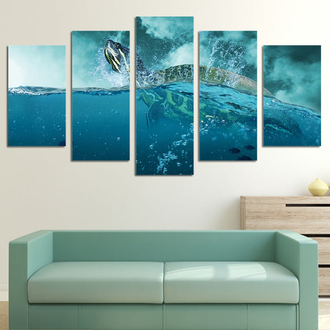 Ocean Turtle 5 piece canvas