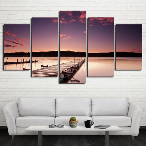 Pier Wood Bridge 5 Piece Canvas