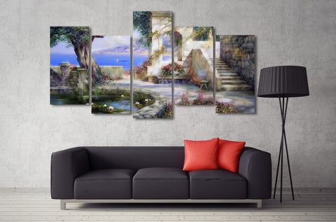 Mediterranean Sailing 5 Piece Canvas