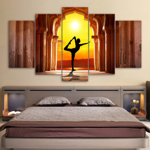 Yoga Fitness Twilight Hall 5 Piece Canvas