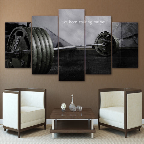 I've Been Waiting for You Weightlifting 5 Piece Canvas