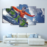 Ice Mountain Skiing 5 Pieces Canvas