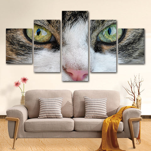 Kitty Cat Eye 5 Piece Canvas