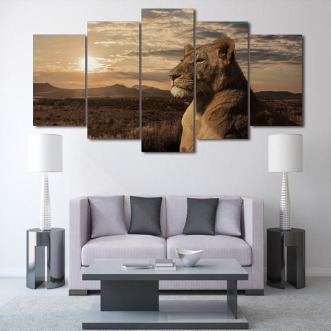 American Lion 5 Piece Canvas