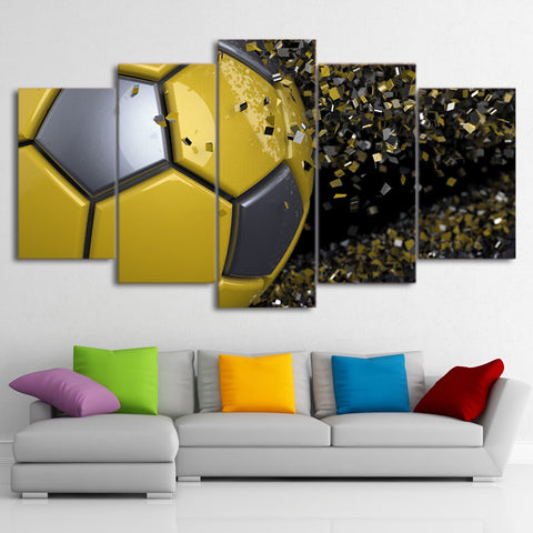 Football Fragmentation 5 Piece Canvas
