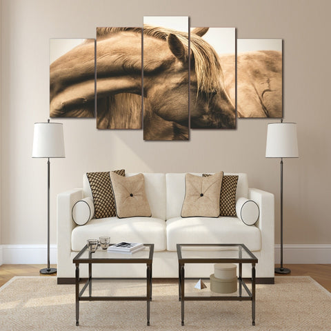 Horses Neck Head 5 Piece Canvas