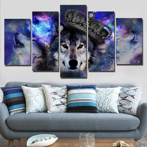 Wolf King 5 Piece Canvas