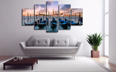 Venice Italy 5 Piece Canvas