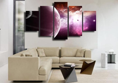 Starry Sky Cloud 5 Piece Canvas