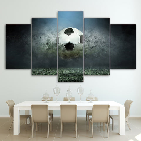 Football in Air 5 Pieces Canvas