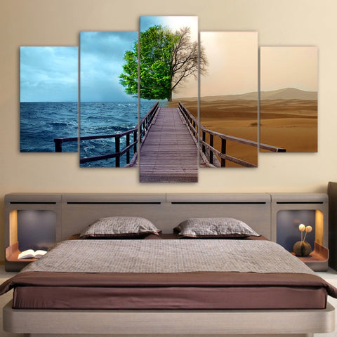 Two Life of tree 5 Piece Canvas