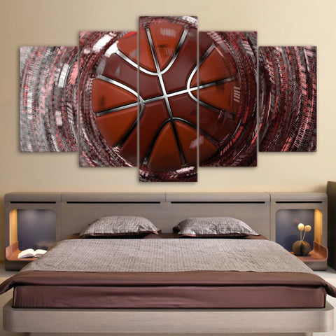 Speed Shooting Basketball 5 Piece Canvas