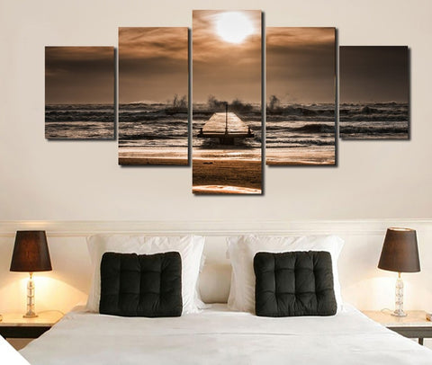 Beach Waves 5 Piece Canvas