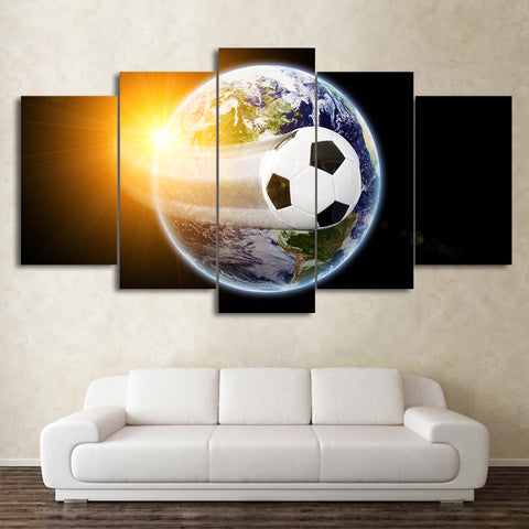 Football Around the World 5 Pieces Canvas