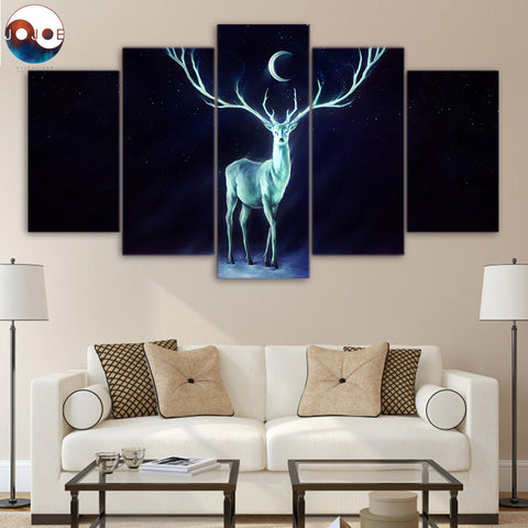Nightbringer by JoJoesArt 5 Piece Canvas