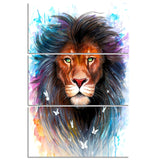 Scared King by Pixie Cold Art 3 Piece Canvas