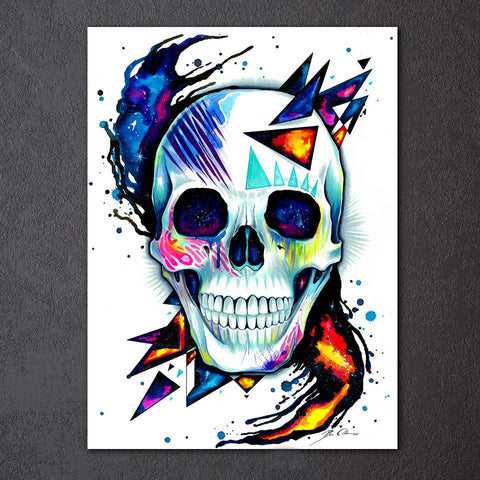 Skull by Pixie Cold Art 1 Piece Canvas