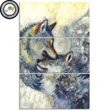 Wolves Lovers by Sunima-MysteryArt 3 Piece Canvas