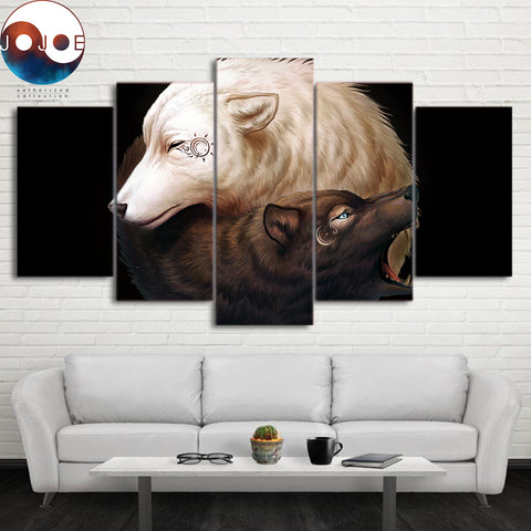 Yin and Yang by JoJoesArt 5 Piece Canvas