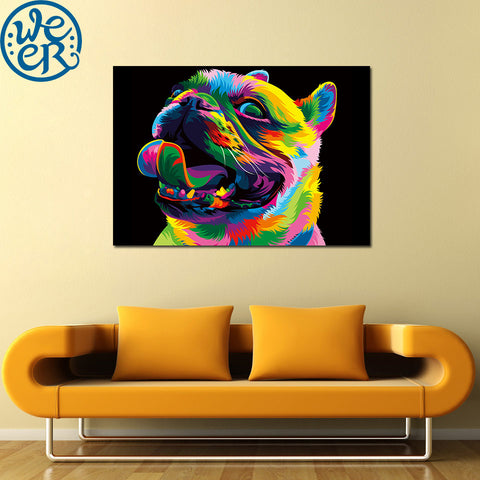 Loyal Bulldog by Weer 1 Piece Canvas