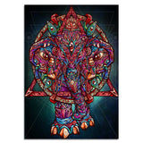 Color Elephant by jml2arts 1 Piece Canvas