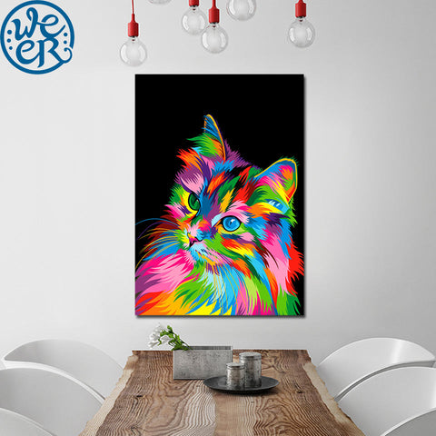 Curious Cat by Weer 1 Piece Canvas