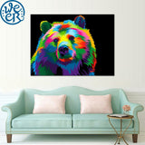 Dreamer Bear by Weer 1 Piece Canvas
