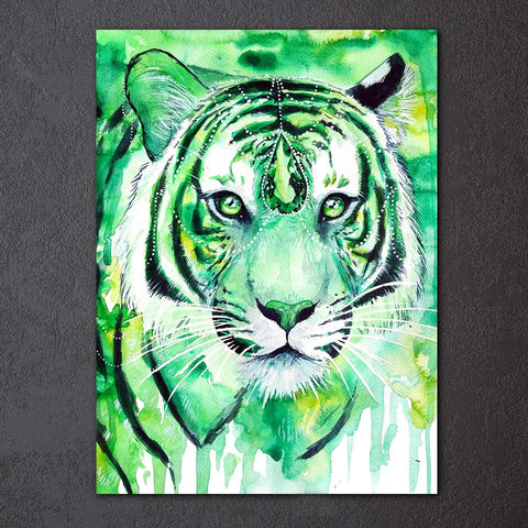 Ruby Tiger by Scandy Girl 1 Piece Canvas