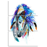 Horse by Pixie Cold Art 3 Piece Canvas