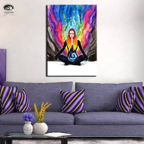 Meditation by Pixie Cold Art 1 Piece Canvas