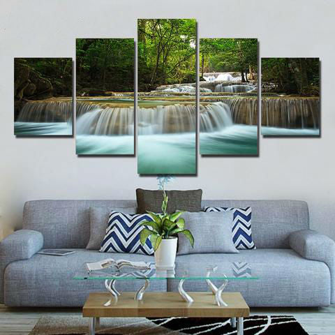 Majestic Waterfall 5 Piece Canvas