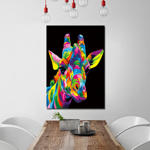 The Royal Giraffe by Weer 1 Piece Canvas