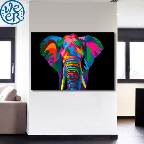 Spiritual Elephant by Weer 1 Piece Canvas