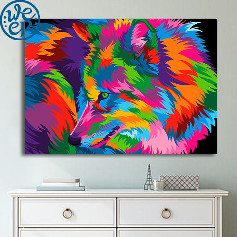 Wolf by Weer 1 Piece Canvas