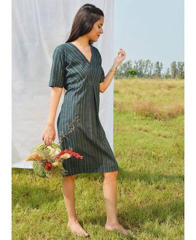 Grass Pleated Dress
