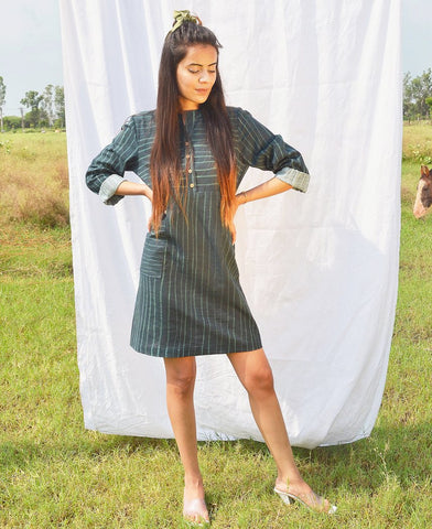 Grass-Button-Dress