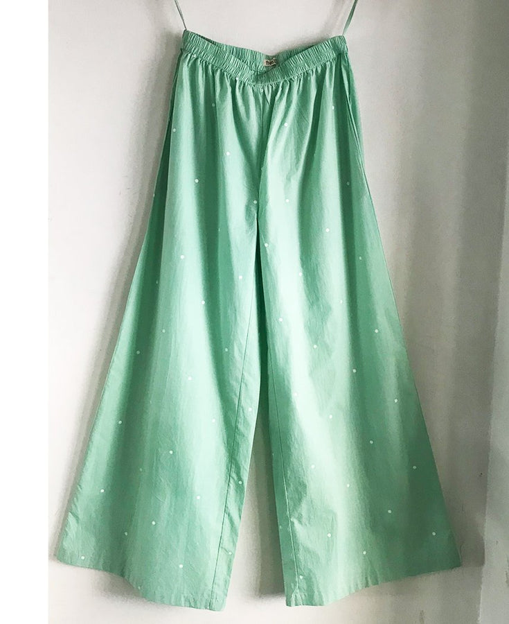 Mint Polka Broad Bottoms