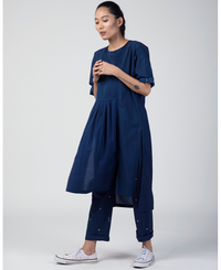 Front Yoke Gathered Dress