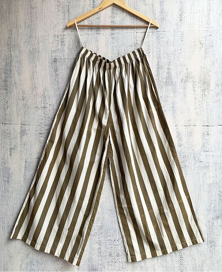 Sage Stripe Broad Bottoms