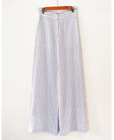 Checkered Palazzo Pants