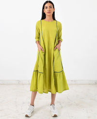 Contrast Panelled Dress